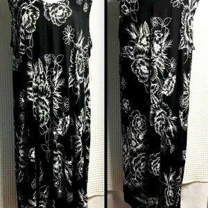 MNY Marc NY Floral Rayon Pullover Tank Dress